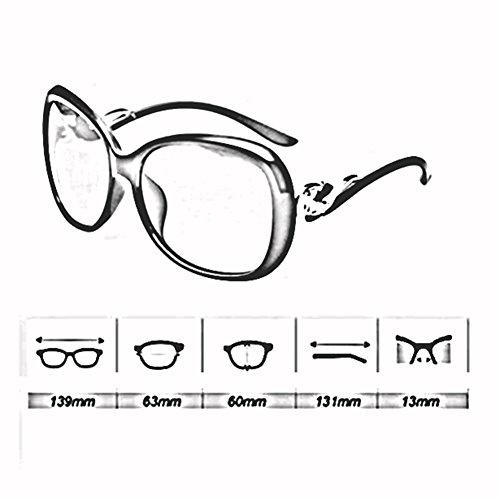 Gafas Anti Cara 2 Gafas xin WX Sol Leopardo Metal Caja Hembra Polarizada Grande De Luz 2 UV Redonda Color zxqT1wOq