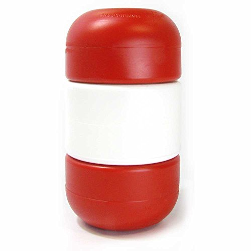 3 Inch x 5 Inch Handi-lock Float for 1/2 Inch Rope (Red/White/Red)