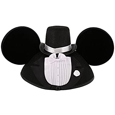 Disney Parks Exclusive Mickey Mouse Wedding Tuxedo Groom Ears Hat