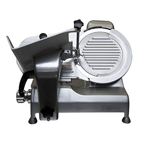 """Premium Commercial Heavy Duty Manual Meat Slicer – KITMA Stainless Steel Electric Cheese Deli Food Slicer with 12"""" Blade, Adjustable Thickness Control for Restaurant, Kitchen"""