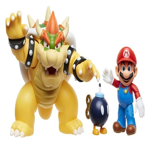 Nintendo Super Mario Bowser Vs Mario Diorama Figure 3 Pack by Nintendo (Image #2)