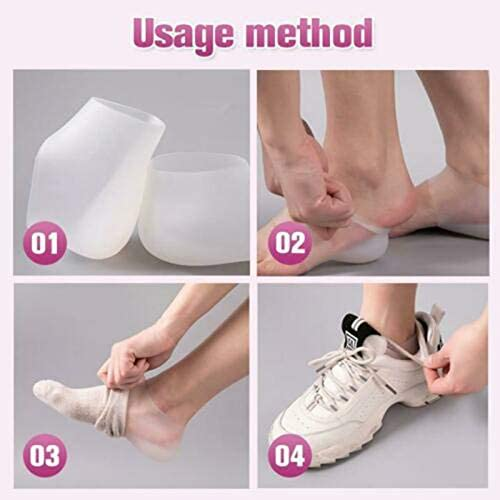 AEVEN✿ 1Pair Invisible Height Increased Insoles Foot Protection Cushion for Women Men Silicone Soft Breathable Heel Socks