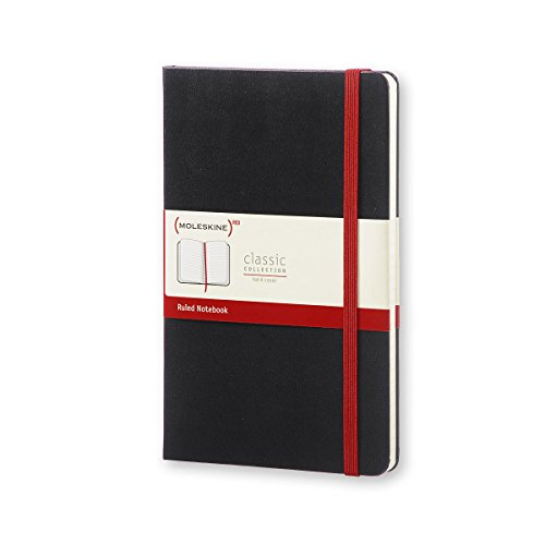 Moleskine (PRODUCT) RED Special Edition Notebook Large Ruled, Black, Hard Cover (5 x 8.25) by Moleskine