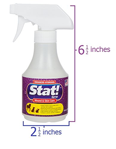 Stat! Spray Pet & Skin Care Enhanced Hydrogel; First-Aid Treatment for Dogs, & Horses, Speeds of Cuts, Scratches Rashes; Soothing Spots, Itching Chewing