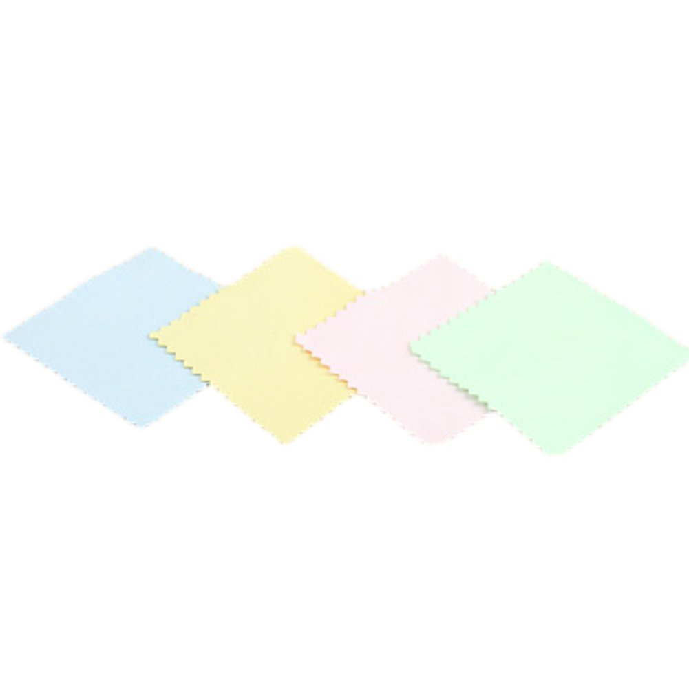 Lavendei Jewelry Cleaning Cloth Polishing Cloth for Sterling Silver Gold Platinum (Random Color)