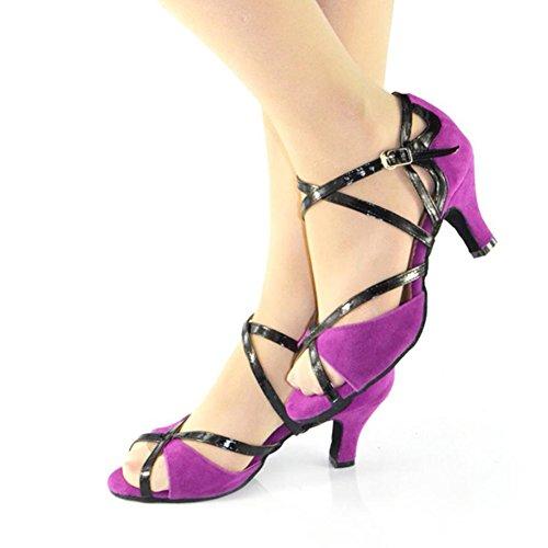 Social Zapatos Zapatos Noche Zapatos Zapatillas Hebilla Sandalia Baile cuadradas de Baile de Tacones Un y Fiesta Salón Performance Verano Mujer de Latinos para Altos XUE Gamuza Personalizables de FAxdwIRgng