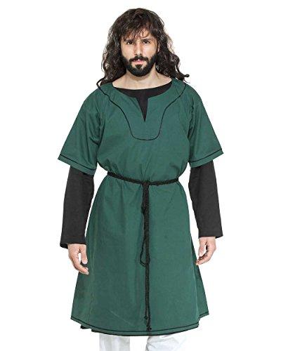 Medieval Renaissance Pirate Viking LARP Mens Costume Eustace Greek Tunic (Small)]()