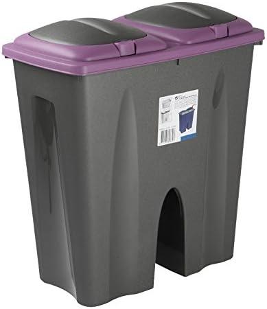 Cubo de basura 50L morado doble reciclaje para casa, trabajo, jardín: Amazon.es: Hogar