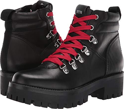 Steve Madden Women's Buzzer Hiker Boot Black 9 M US ()