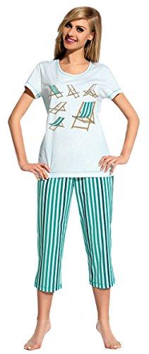 L&L Pijama para Mujer Mia Turquesa