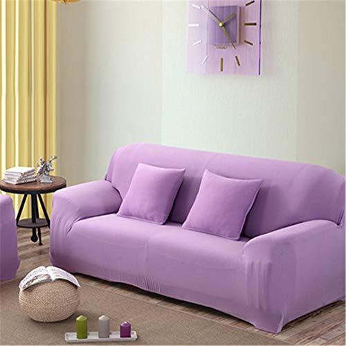 - Three All-Inclusive Generic Leather Sofa Cushion Sofa Cover Towel Universal Custom Summer Full Cover1pcs Light Purple Four seat Sofa