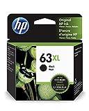 HP 63XL Black Ink Cartridge (F6U64AN) for HP Deskjet 1112 2130 2132 3630 3632 3633 3634 3636 3637 HP ENVY 4512 4513 4520 4523 4524 HP Officejet 3830 3831 3833 4650 4652 4654 4655: more info