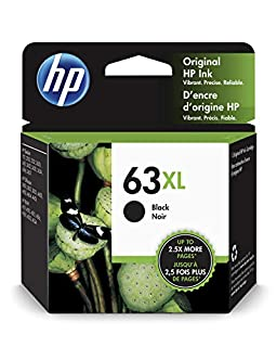 HP F6U64AN 63XL Black High Yield Original Ink Cartridge For DeskJet 1112, 2130, 2132, 3630, 3631, 3632, 3633, 3634, 3636, 3637, ENVY 4511, 4512, 4516, 4520, 4521, 4522, 4524, OfficeJet 3830, 3831, 3832, 3833, 4650, 4652, 4654, 4655 - F6U64AN#140 (B00WJDWGA8) | Amazon Products