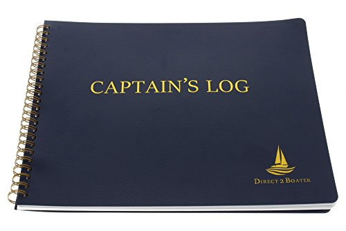 Direct 2 Boater Blue Spiral Bound Captain's Log Book with Flexible Cover (Plath Weems & Log)