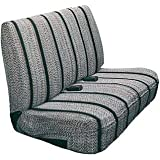 Saddleman Universal Front Bench Seat Cover - Saddle Blanket Fabric (Black)
