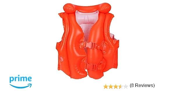 Intex 58671EU - Chaleco hinchable naranja con hebillas 50 x 47 cm ...