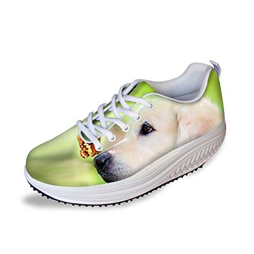 Knuffels Idee Schattige Hond Platform Schoenen Dames Afslanken Golden Retriever
