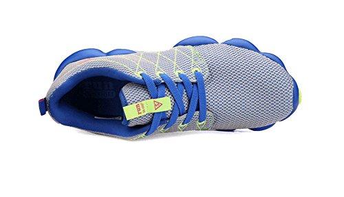 JiYe Colorful Damen Herren Jogging Walking Riding Laufschuhe, Tennis Skate Schuhe Fashion Sneskers Grau