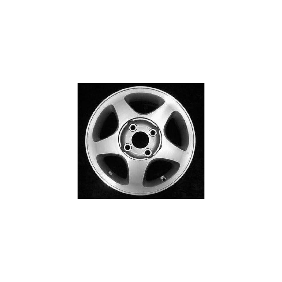 93 01 NISSAN ALTIMA ALLOY WHEEL RIM 15 INCH, Diameter 15, Width 6 (5 SPOKE), Factory wheel; 5 spoke design, MACHINED FACE. LIGHT SILVER VENTS, 1 Piece Only, Remanufactured (1993 93 1994 94 1995 95 199