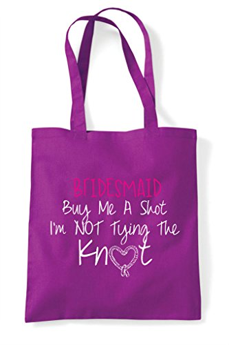 Do Shot Not Tying Knot Tote Buy Shopper Hen Party Bag The I'm Me A Magenta Customised Personalised wSq78xf0X