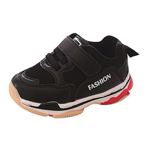 DingLong Babyschuhe,Kinder Solid Mesh Schuhe Sneakers Running Schuhe Schwarz