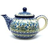 Polish Pottery Teapot - 3/4 qt. - Blue Bells