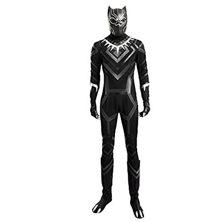 Men's Captain America 3 Civil War Black Panther Cosplay Costume Deluxe Outfit