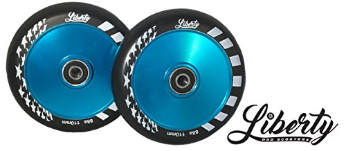 Hollow Core - Liberty Pro Scooters - Hollow Core Wheels - Set of 2 (Light Blue)