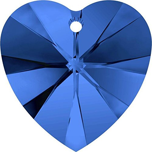 6228 Swarovski Pendant Xilion Heart Sapphire | 18mm - Pack of 1 | Small & Wholesale Packs ()