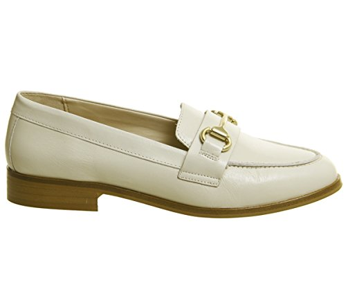 Fluster Loafers Office Groucho White Leather 48ww7pq