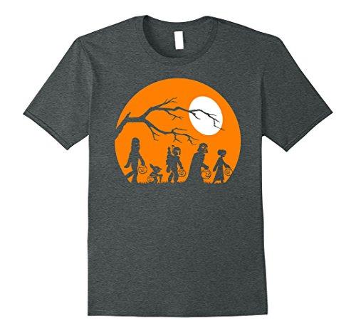 Mens Star Wars Trick Or Treat Halloween Silhouette T-Shirt XL Dark (Halloween Treat And Trick)