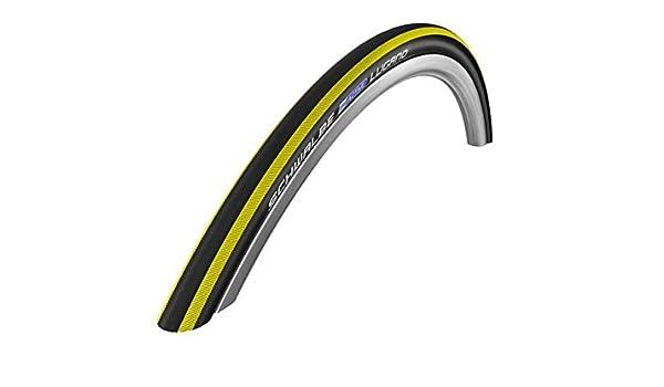 Amazon.com : Schwalbe Lugano - Cubierta plegable para neumtico de bicicleta (kevlar, slice, 700 x 23c, 225 g), banda de color amarillo by Schwalbe : Sports ...