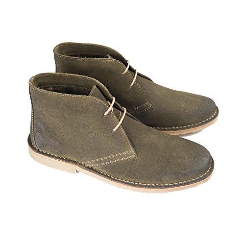 Ikon CANYON Mens Suede Lace Up Desert Boots Khaki Khaki zonX3A