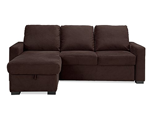 Chester Convertible Sofa Java by Lifestyle Solutions