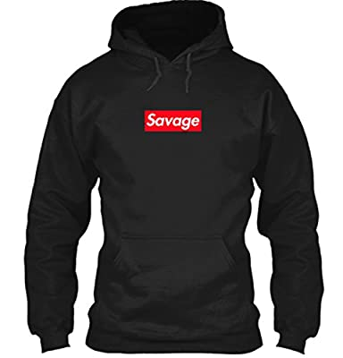 Supreme Savage Box Logo Inspired Hoodie - 21 Savage