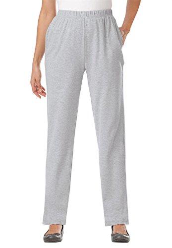 Women's Plus Size Petite Straight Leg 7-Day Knit Pants Heath