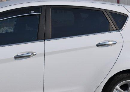 Cubre manetas puertas cromados fabricado en acero 4 puertas