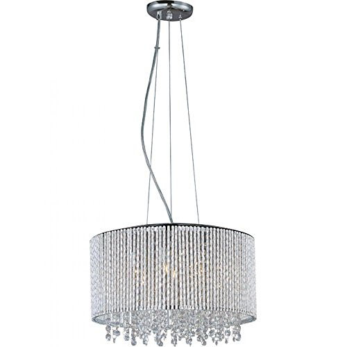 Levana 7-Light Crystal Drum Chandelier 16.5 Inch Wide Ceiling Light Fixture ()