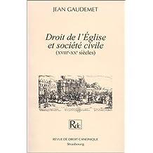 Droit de l'église et société civile (XVIIIe-XXe siècles)