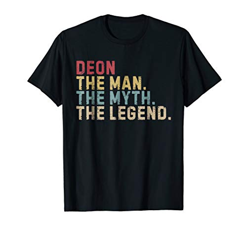 DEON The Man The Myth Legend T-Shirt Vintage Tee