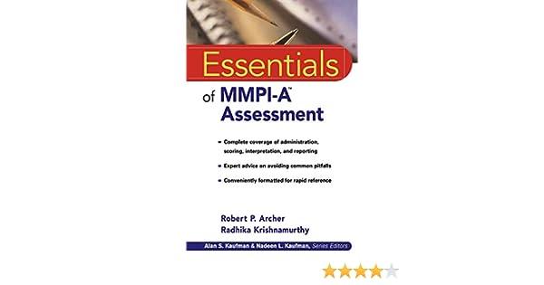 Essentials Of MMPI A Assessment Essentials Of