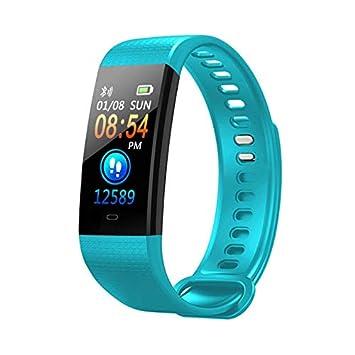 LJXAN Actividad Fitness Tracker Bluetooth Ritmo Cardíaco Tensiómetro Cálculo De Calorías Reloj Impermeable Control Remoto Foto Deportes Pulsera,Green: ...