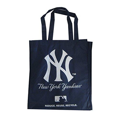 (New York Yankees Printed Non-Woven Polypropylene Reusable Grocery Tote Bag)