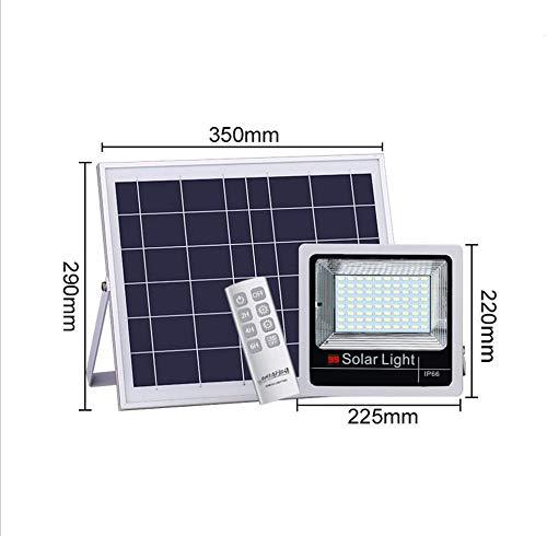Q-fo Foco Proyector Solar Exteriores, Luz De Inundación IP66 ...