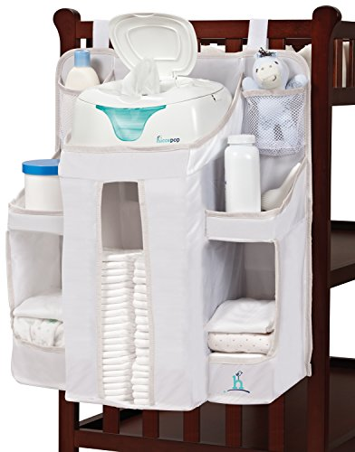 hiccapop Nursery Organizer and Baby Diaper Caddy | Hanging Diaper Organization Storage for Baby Essentials | Hang on Crib, Changing Table or Wall (Strap Furniture Collections)