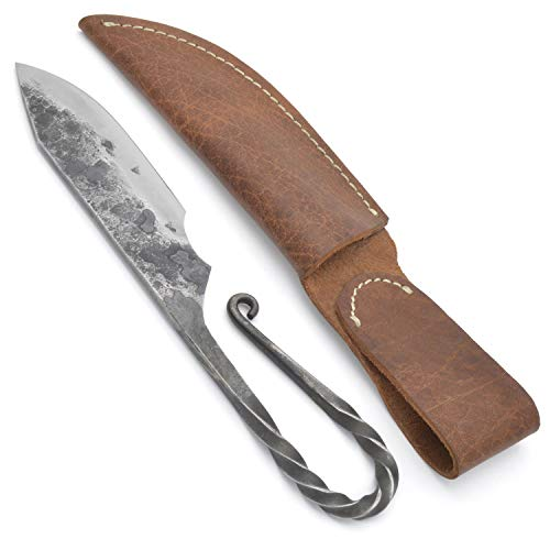 - Norse Tradesman Viking Knife With Twisted Loop Hilt & Leather Sheath - 4
