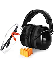 Ear Protector, Noise Reduction Headphone for Shooting and Hunting Anti-Noise Earmuffs Hearing Protection Tactical Headset (Color : Black)