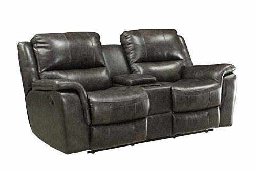 Coaster Home Furnishings 601822 Two-Tone Wingfield Motion Collection Motion Loveseat, Charcoal