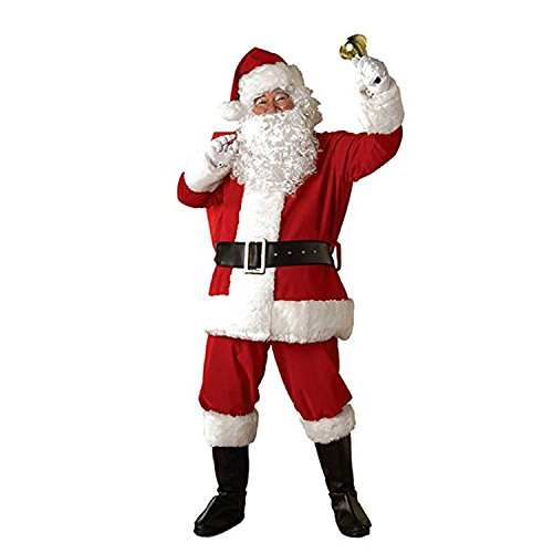 Smilingtree,santa claus hat for adults and kids white Christmas wig + Santa Claus beard for christmas (Child Santa Wig And Beard)