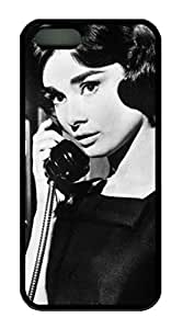 TPU Black Color Soft Case For iPhone 5S Latest style Case Suit iPhone5/5S Very Nice And Ultra-thin Case Easy To Use Audrey Hepburn 225